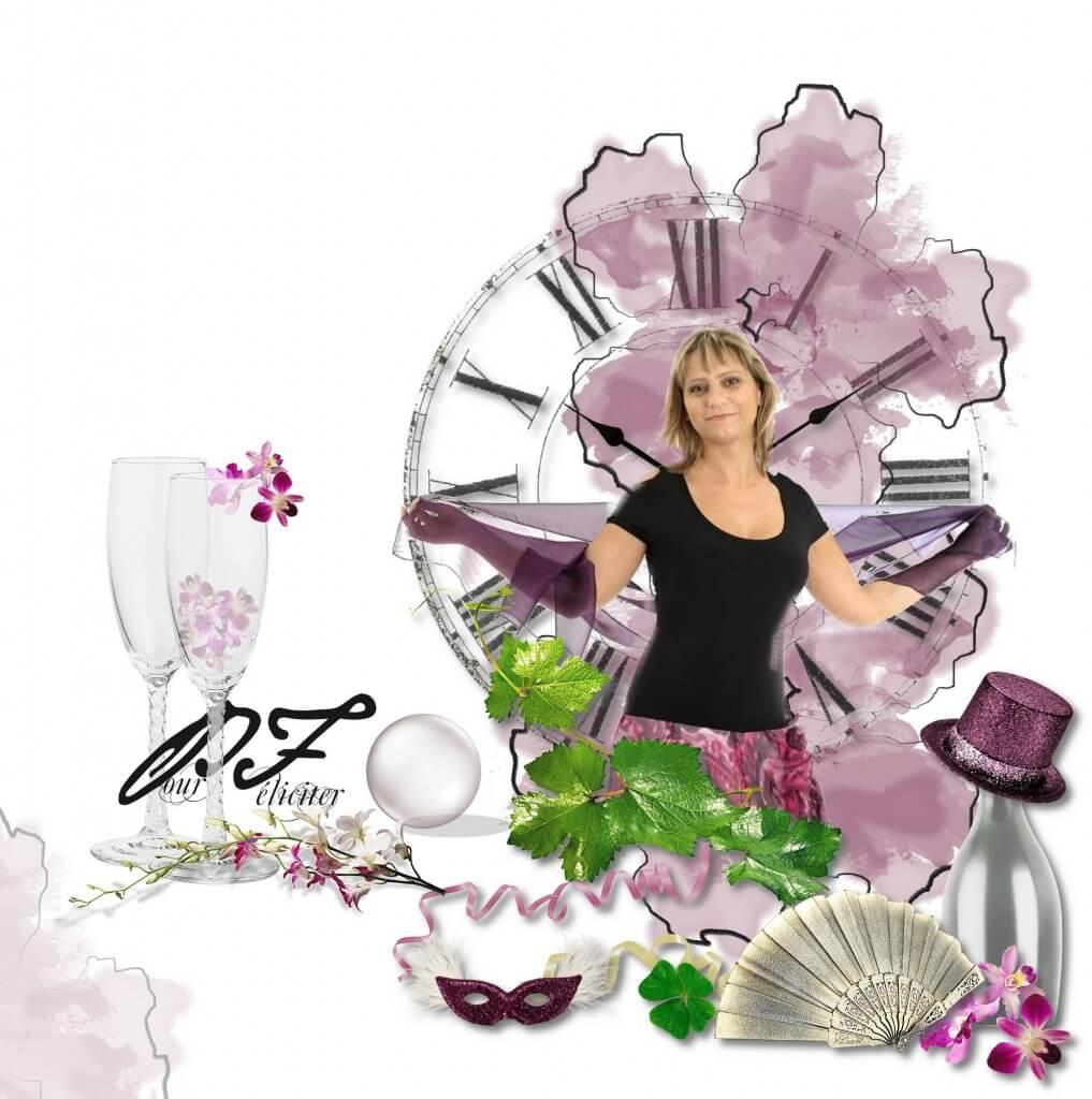 Žena a magické pozadie v duchu novoročného pozdravu PF 2012