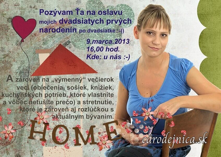 Žena na graficky spracovanej pozvánke na Výmenný večierok