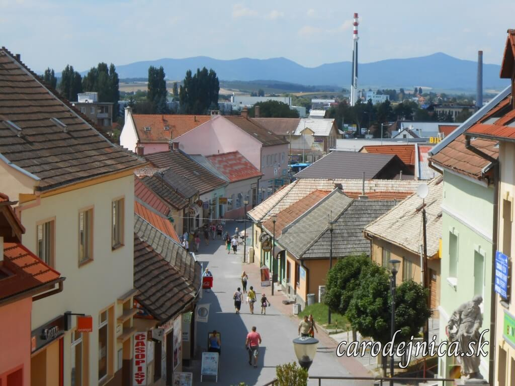 Fotografia panorámy mesta Bánovce nad Bebravou z ulice Záfortňa s názvom Panoptikum - rozlúčka