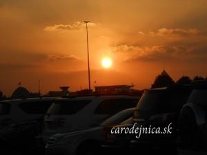 Západ slnka pred rokom v Dubaji