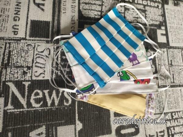 ochranné textilné rúška rôznofarebné