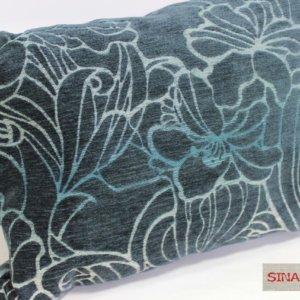 Vankúš Sinara modrý kvetovaný