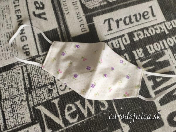 ochranné textilné rúško malé