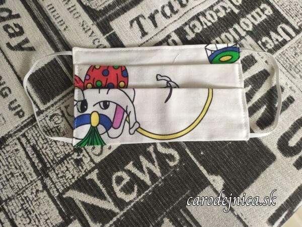 ochranné bavlnené rúško so sloníkom