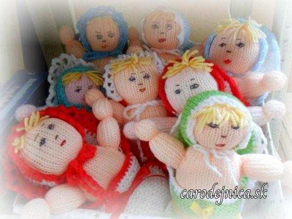 štrikovano-hačkované bábätká v perinke