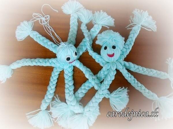 dve chobotnice z modrého chemlónu