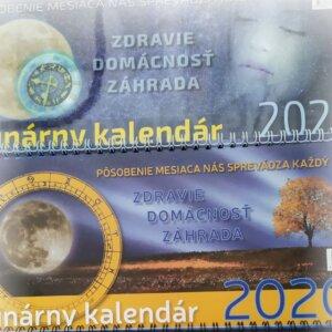 Titulná strana dvoch stolových lunárnych kalendárov 2020, 2021