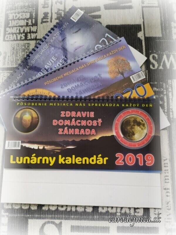 Tri stolové lunárne kalendáre 2019, 2020, 2021
