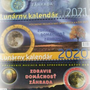 Obálka stolových lunárnych kalendárov za rok 2019, 2020, 2021