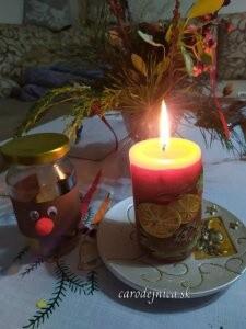 adventná sviečka, ikebana a handmade