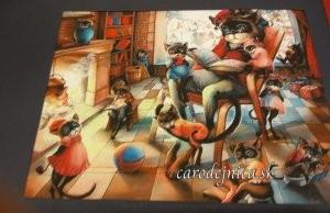 obrázok rodina mačiek